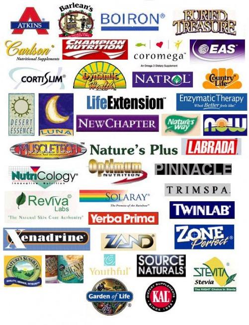 List of supplement brands